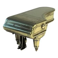 Antique Novelty Brass Inkwell Modelled As A Grand Piano, C.1900
