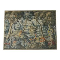 LARGE LATE 19th Century French Tapestry Wall Hanging. Woodland Scene. C1890
