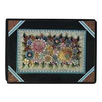 19th Century Italian Micro Mosaic Paperweight. C.1890