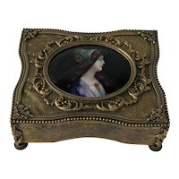19th Century French Ormolu or Bronze Dore Jewel / Trinket Box.