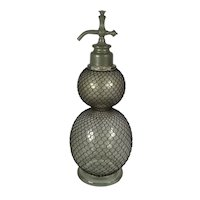 Antique French Soda Siphon Of Double Gourd Form. C1890