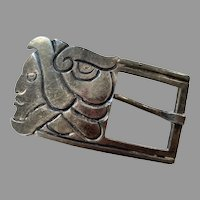 1950's Emma Melendez Taxco Mexico Sterling Belt Buckle