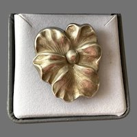 Art Nouveau Sterling Pansy Pin / Pendant