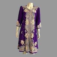 1980's Authentic Indian Beaded Embroidered Tunic Dress