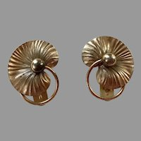 REDUCED Pair Of Forstner Sterling Vermeil Dress Clips