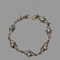 Vintage Gold-Filled Opal Bracelet