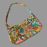 Vera Bradley Colorful Quilted Purse With Shoulder Strap Like New