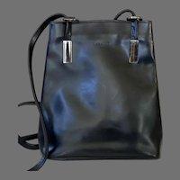Elegant Labalad Paris Black Leather Purse / Backpack