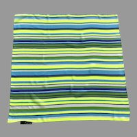 Italian Small Polyester Striped Scarf