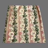 REDUCED 1940's Pair Of Floral Barkcloth Drapes
