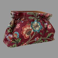 Isabella Fiore Purse With Beaded & Sequined Flowers