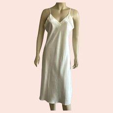 1980's Cream Silk Full Slip Never Worn NWT Size M