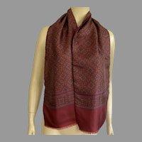 Vintage Carlo Palazzi Italian Silk & Wool Scarf / Muffler Unisex