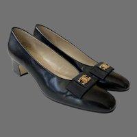 NOS Ettiene Aigner Black Fiesta Shoes Pumps Size 7 1/2 N