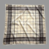 Vintage Plaid Cream, Brown, Rust Square Scarf