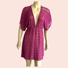 1980's Jordan Taylor Fuchsia Swimsuit Cover Up