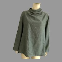 Japanese Chic Gray Wool Top By YaccoMaricard