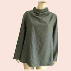 Japanese Chic Gray Wool Top By YaccoMaricard