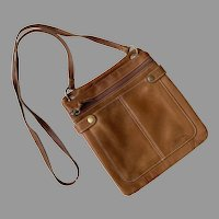 Vintage Brown Leather Fossil Purse Cross Body