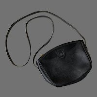 REDUCED Vintage Black Mark Cross Cross Body Purse Made In Italy