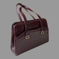 1960's Dark Maroon Purse Handbag By Toni Handbags Like New