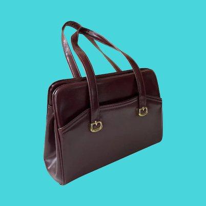 1960's Dark Maroon Purse Handbag By Toni Handbags Like New
