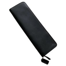 Coach Black Leather Men's Travel Tie Case Never Used In Box