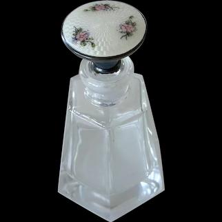 American Sterling Guilloche Top Perfume Bottle R. Blackinton & Co.