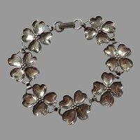Vintage Beau Sterling Dogwood Flower Bracelet