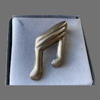 Mexican Sterling Musical Notes Pin