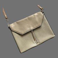 REDUCED Pour La Victoire Beige Leather Shoulder Bag Purse
