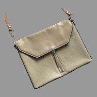 Pour La Victoire Beige Leather Shoulder Bag Purse