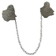 Webster Sterling Pelican Sweater / Bib Clips