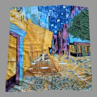 Silk Scarf With Van Gogh Painting Pattern