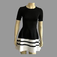 1980's Saks Fifth Avenue Black & White Mini Dress Made In USA