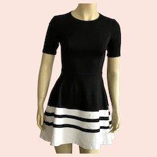 1980's Saks Fifth Avenue Black & White Mini Dress Made In USA