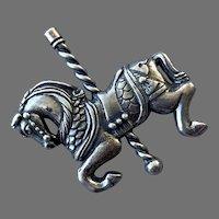 James Avery Sterling Carousel Horse Pin Retired