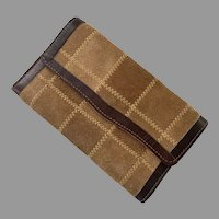 REDUCED 1960's Buckskin & Leather Wallet Made In Brazil