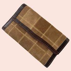 REDUCED 1960's Buckskin & Leather Wallet Made In Brazil