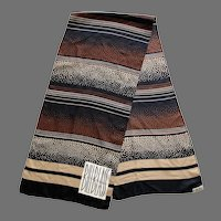 Vintage Silk Bill Blass Oblong Scarf Made In Japan