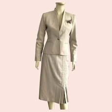 1970's Maurice Sasson Fitted Jacket and Skirt Suit