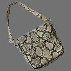 Vintage 1960's Faux Snakeskin Purse & Key Case By Bond Street Ltd.