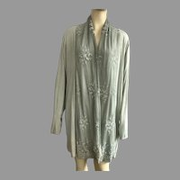 Made In Italy Elena Baldi Mint Green Cardigan Jacket With Lace Large Size