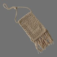 Antique Small Crochet Purse With Fringe