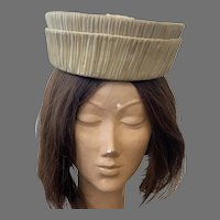 Vintage 1960's Jan Leslie Custom Design Pleated Silk Hat