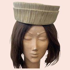 Vintage 1960's Jan Leslie Custom Design Pleated Silk Hat