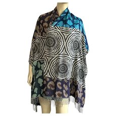 Vintage 1990's Cashmink Scarf / Shawl By Fraas Made In Germany