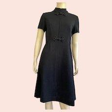 Vintage Alison Ayres Black Asian Inspired Dress 1970's  Never Worn