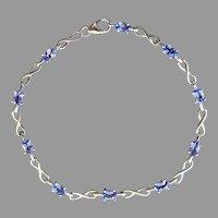 Dainty Sterling Tanzanite Bracelet