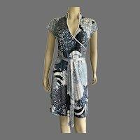 Vivienne Tam Asian Inspired Silk Jersey Wrap Dress Size S